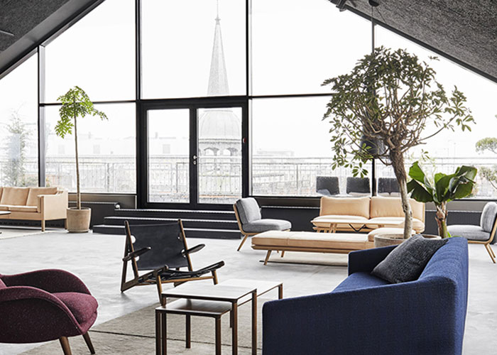 Fredericia´s rooftop showroom